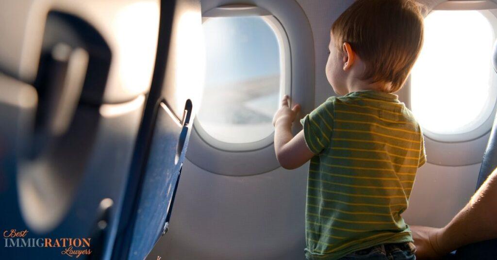 child at flight